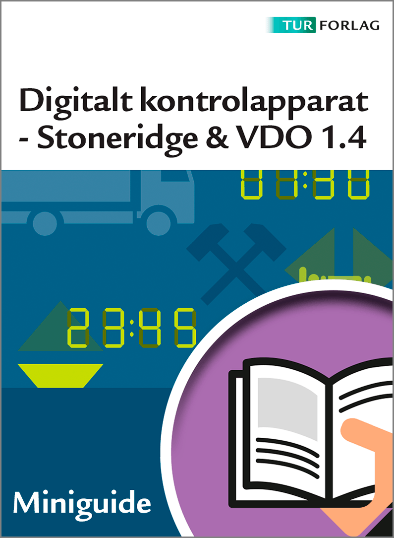 Digitalt kontrolapparat Stoneridge 7 og VDO 1.4